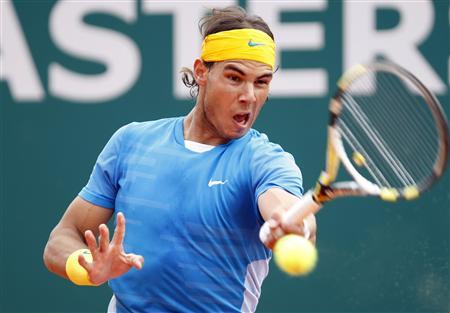 Rafal Nadal Hitting Ball